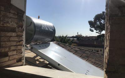 VIVIENDA PLAZA ESPAÑA   Caldera y Placa solar